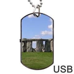 Stonehenge Dog Tag Usb Flash (two Sides)