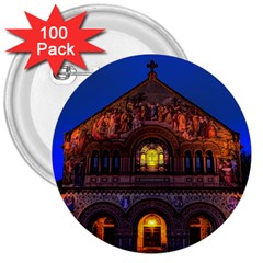 Stanford Chruch 3  Buttons (100 Pack)