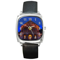 Stanford Chruch Square Metal Watches