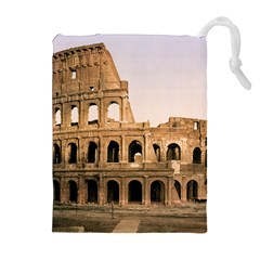 ROME COLOSSEUM Drawstring Pouches (Extra Large)