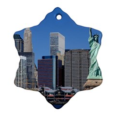 Ny Liberty 2 Snowflake Ornament (2 Side)