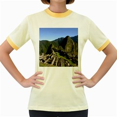 Machu Picchu Women s Fitted Ringer T Shirts
