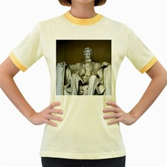 Lincoln Memorial Women s Fitted Ringer T Shirts