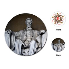 Lincoln Memorial Playing Cards (round)