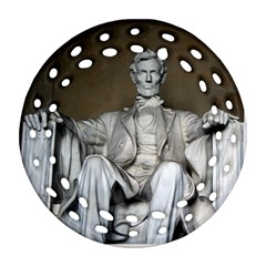 Lincoln Memorial Round Filigree Ornament (2side)