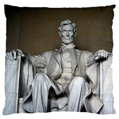 Lincoln Memorial Large Flano Cushion Cases (one Side)