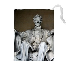 LINCOLN MEMORIAL Drawstring Pouches (Extra Large)
