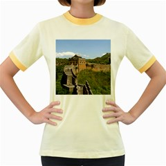 Great Wall Of China 3 Women s Fitted Ringer T Shirts