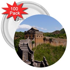 Great Wall Of China 3 3  Buttons (100 Pack)