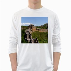 Great Wall Of China 3 White Long Sleeve T Shirts