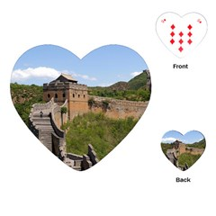 Great Wall Of China 3 Playing Cards (heart)