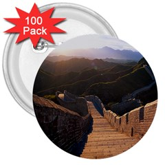 Great Wall Of China 2 3  Buttons (100 Pack)
