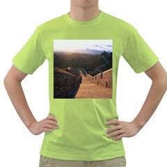 Great Wall Of China 2 Green T Shirt