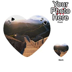Great Wall Of China 2 Playing Cards 54 (heart)