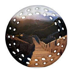 Great Wall Of China 2 Ornament (round Filigree)