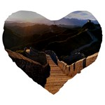 GREAT WALL OF CHINA 2 Large 19  Premium Heart Shape Cushions Front