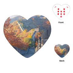 Great Wall Of China 1 Playing Cards (heart)