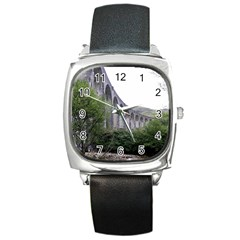 Glenfinnan Viaduct 2 Square Metal Watches