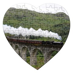 Glenfinnan Viaduct 1 Jigsaw Puzzle (heart)