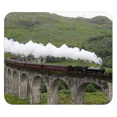 Glenfinnan Viaduct 1 Double Sided Flano Blanket (small)