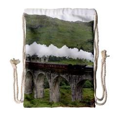 Glenfinnan Viaduct 1 Drawstring Bag (large)