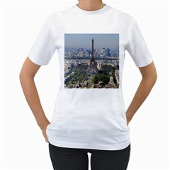 Eiffel Tower 2 Women s T Shirt (white) (two Sided)
