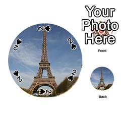 Eiffel Tower Playing Cards 54 (round)