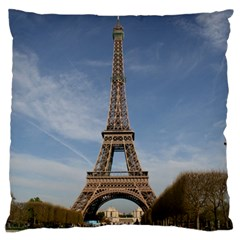 Eiffel Tower Large Flano Cushion Cases (two Sides)