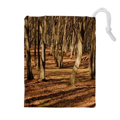 WOOD SHADOWS Drawstring Pouches (Extra Large)