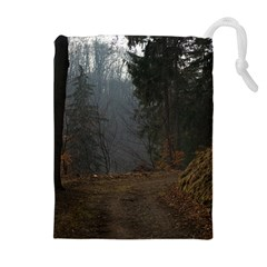 TWILIGHT ROAD Drawstring Pouches (Extra Large)