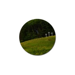 Three Crosses On A Hill Golf Ball Marker (4 Pack)