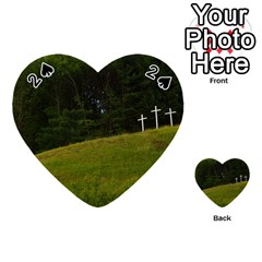 Three Crosses On A Hill Playing Cards 54 (heart)