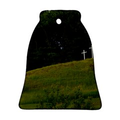 Three Crosses On A Hill Ornament (bell)