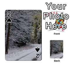Snow On Road Playing Cards 54 Designs