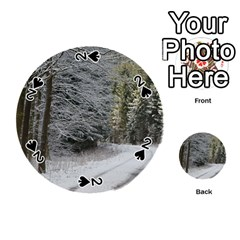 Snow On Road Playing Cards 54 (round)