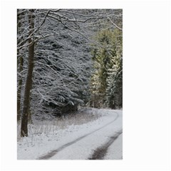 Snow On Road Large Garden Flag (two Sides)