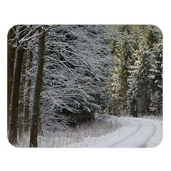 Snow On Road Double Sided Flano Blanket (large)