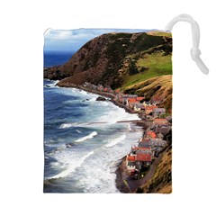 SCOTLAND CROVIE Drawstring Pouches (Extra Large)