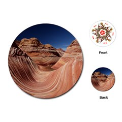 Petrified Sand Dunes Playing Cards (round)
