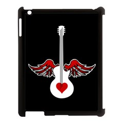 Flying Heart Guitar Apple Ipad 3/4 Case (black)