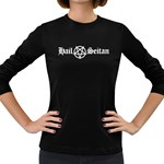 Hail Seitan Women s Long Sleeve Dark T-Shirts Front