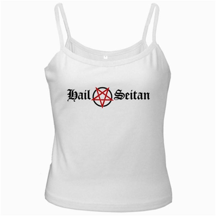 Hail Seitan White Spaghetti Tanks