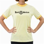 Hail Seitan Women s Fitted Ringer T-Shirts Front
