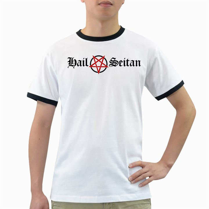 Hail Seitan Ringer T-Shirts