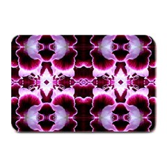 White Burgundy Flower Abstract Plate Mats