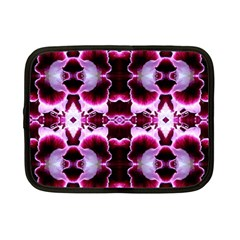 White Burgundy Flower Abstract Netbook Case (small)