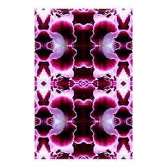 White Burgundy Flower Abstract Shower Curtain 48  X 72  (small)