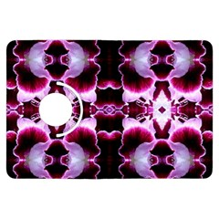 White Burgundy Flower Abstract Kindle Fire Hdx Flip 360 Case