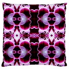 White Burgundy Flower Abstract Standard Flano Cushion Cases (two Sides)