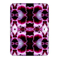 White Burgundy Flower Abstract Samsung Galaxy Tab 4 (10 1 ) Hardshell Case